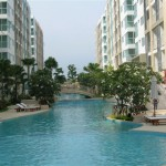 100 meter long Swiming Pool 150x150 Fully Furnished One Bedroom condo for rent at 9,000 baht per month only