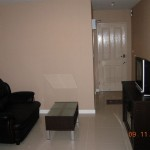New Living Area 150x150 Fully Furnished One bedroom condo for rent at 8,000 baht per month only